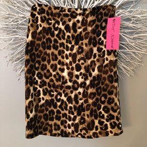 Betsey Johnson skirt leopard animal print  NWT